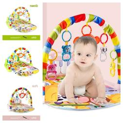 Cute Animal Print Pattern Activity Baby Gym Play Mat For Bab