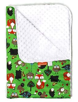 Dear Baby Gear Deluxe Baby Blanket, Foxes, Multi Color / Whi