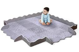 Designer Baby Play Mat with Fence - Thick Playmat Baby Mat w