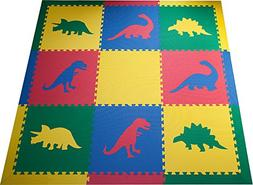 SoftTiles Kids Interlocking Foam Play Mats- Dinosaur Jurassi
