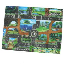 Dinosaur World Traffic Road Play Mat for Car Train Toy Baby