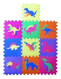 Liberty Imports Dinosaur Zoo Educational Foam Puzzle Floor M
