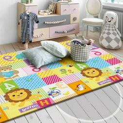 Double Sided Baby Crawling Mat Newborn Infant Play Mat Game