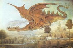 Dragon Surveying the Landscape Playmat for Collectible Tradi