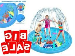 Extra Large Fun Sprinkler for Kids Play Mat Outdoor Inflatab