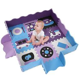 Extra Thick Foam Baby Play Mat With Fence for Tummy Time and