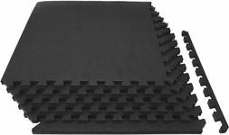 """Extra Thick Puzzle Exercise Mat 3/4"""" or 1"""" EVA Foam Interl"""