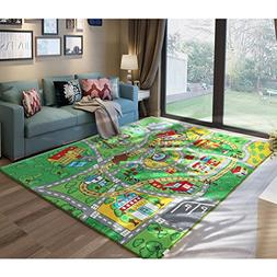 "JACKSON 52""X74"" Extra-Thick,Extra-Large Kid Rug Playmat For"