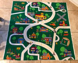 Fabric Panel Child's Play Mat City Town  Mall Park .Cotton