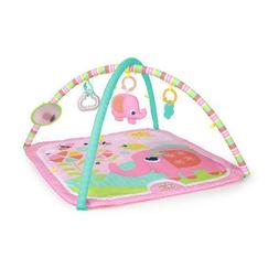 fanciful flowers activity gym and play mat