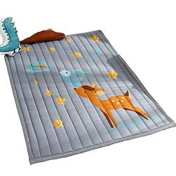 Cusphorn Fawn Stars Cotton Baby Crawling Mat Washable Play M