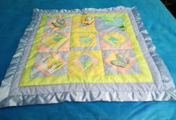 FISHER PRICE 2003 ACTIVITY BLANKET PLAY MAT BABY TOY, SATIN