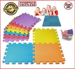 Floor Mat 10-Tile Exercise Mat Solid Foam EVA Puzzle Playmat