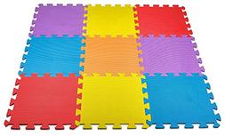MEDca Floor Play Mat EVA Interlocking 10pk 11.5x11.5 Inches