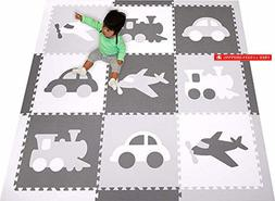 SoftTiles Foam Play Mat Transportation Theme Playmat- Kids,