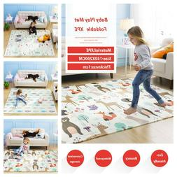 Foldable Children Thickened Baby Play Mat Crawling Pad Carpe