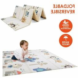 "Foldable Kids Play Mat Non-Toxic 79""x71"" Child Baby Crawling"