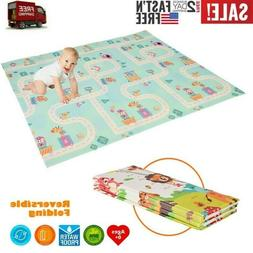 Foldable Play Mat Large Folding Reversible Baby Soft Crawlin