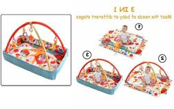 3 In 1 Multifunctional Baby Play Mat Foldable with Hanging T