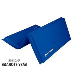 We Sell Mats Folding Gymnastics Tumbling Panel Mat, Blue, 6-