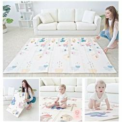 "Folding Kids Play Mat Non-Toxic 79""x71"" Child Baby Crawling"