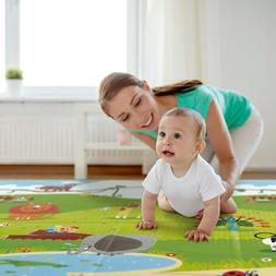 Hape Foldable Play Mat – Large Tummy Time Folding Reversib