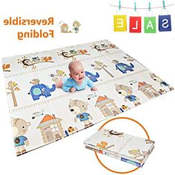 FOLDING Play Mat |【Easy to Clean, Fold Up】BPA FREE Non-T