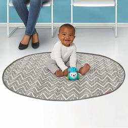 Skip Hop Grab-and-Go Round Trip Travel Mat, Grey Zig Zag