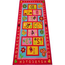 "Hopscotch Rug Play Carpet  Extra Large & Wide 72""x39"" Educat"