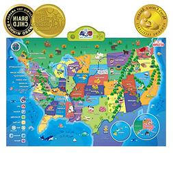 BEST LEARNING i-Poster My USA Interactive Map - Educational