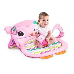 Kids II Prop & Play Tummy Time Owl Mat in Pink Fun and Engag