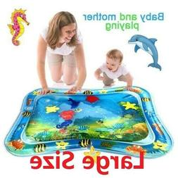 Inflatable Water Play Mat Infants Toddlers Fun Tummy Time Pl