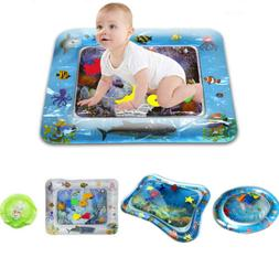 Inflatable Water Play Mat Infants Fun Tummy Time Kids Baby P
