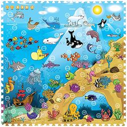 Creative Baby 9 Piece Interactive Playmat i-Mat, Under The S