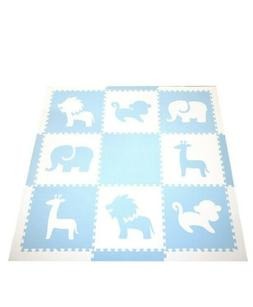 SoftTiles Interlocking Foam Playmat- Safari Animals Themed-