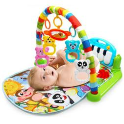 MagiDeal Kick And Play Newborn Gym Mat Toy with Piano for In