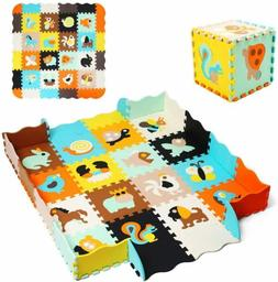 Kid Play Mat Animal Shapes Educational Puzzle Playmat Interl