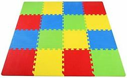 BalanceFrom Kid's Puzzle Exercise Play Mat with EVA Foam 4 C
