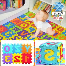Kid's Puzzle Exercise Play Mat with EVA Foam Interlocking Ti