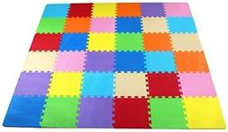 BalanceFrom Kid's Puzzle Exercise Play Mat with EVA Foam Int