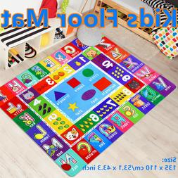 Kid's Puzzle Exercise Play Mat Educational Letters & Numbers