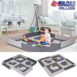 Kids Baby Play Mat Set Non-Toxic Extra Thick Foam Large with