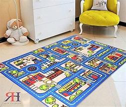 Kids Car Road Rugs City Map Play mat for Classroom/Baby Room