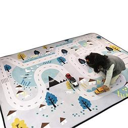 Cusphorn Kids Carpet Playmat Rug Village Life Great For Play