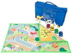 MMP Living Kids Double Sided Felt Play mat - 2 in 1 City & F
