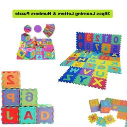 Kids Eva Soft Play Mat Floor Learning Puzzle Letters & Numbe