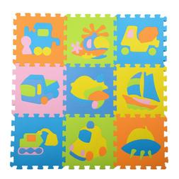 Kids Foam Play Mat Baby Crawling Activity Gym Crawl Infant F