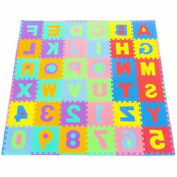 ProSource Kids Foam Puzzle Floor Play Mat with Shapes & Colo