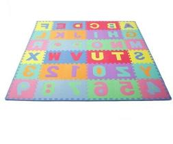 ProSource Kids Foam Puzzle Floor Play Mat with ABC's & 123's