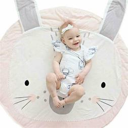 kids nursery rug bunny shaped play mat